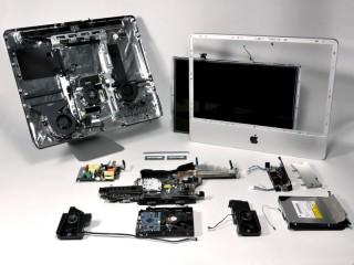 les entrailles de l'iMac 20 pouces, proposées par iFixit