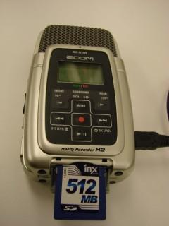 Le micro Zoom et sa carte SD