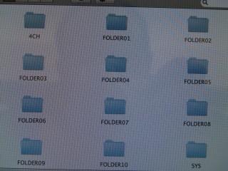 Les répertoires de ma carte SD apparaissent bien dans le finder.