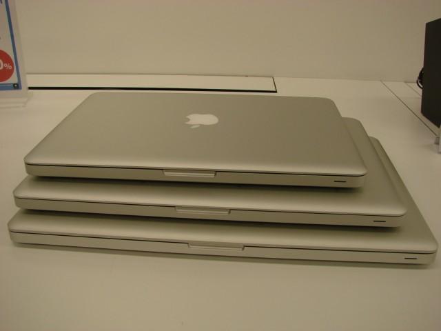 Vue de l'ensemble de la gamme des MacBook Pro